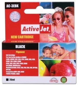 ActiveJet Tusz ActiveJet AC-3eBN | Black | 26ml | Canon BCI-3eBK