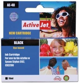 ActiveJet Tusz ActiveJet AE-40 | Black | 19 ml | Chip | Epson T040
