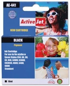 ActiveJet Tusz ActiveJet AE-441 | Black | 18 ml | Chip | Epson T0441