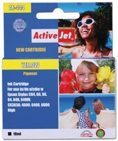 ActiveJet Tusz ActiveJet AE-444 | Yellow | 18 ml | Chip | Epson T0444