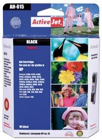 ActiveJet Tusz ActiveJet AH-15R | Black | 50 ml | Regenerowany | HP C6615 |HP 15