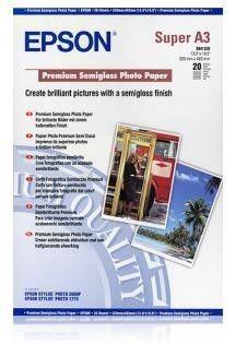 Papier Epson Premium Semigloss Photo (półmatowy, 251g, A3+, 20 szt.)