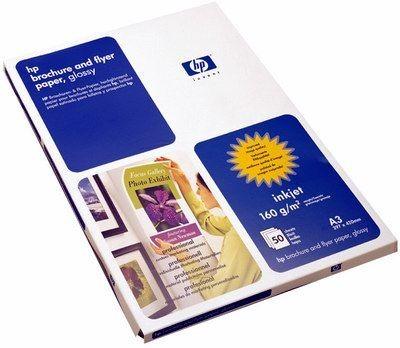Papier HP brochure & flyer (błyszczący, 160g, A3, 50 ark.)