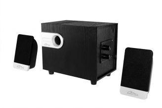 Media-Tech NOVELTY 2.1 - 3-kanałowy zestaw głośnikowy, głośnik basowy w obudowie drewniane