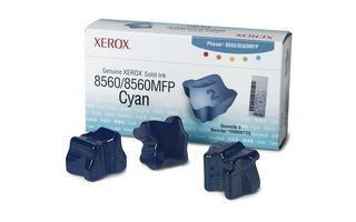 Xerox Kostki Solid Ink cyan x3 | 3 000str | Phaser 8560