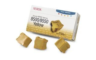 Xerox Kostki Solid Ink yellow x3 | 3 000str | Phaser 8500/8550