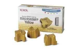 Xerox Kostki Solid Ink yellow x3 | 3 000str | Phaser 8560