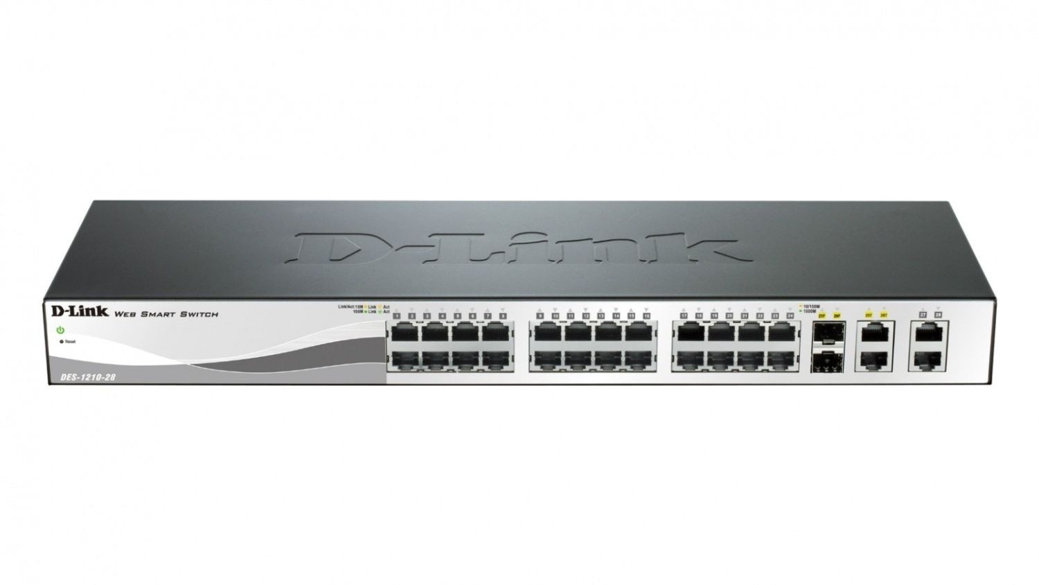 D-Link DES-1210-28 24-port 10/100 Smart Switch + 2 Combo 1000BaseT/SFP + 2 Gigabit