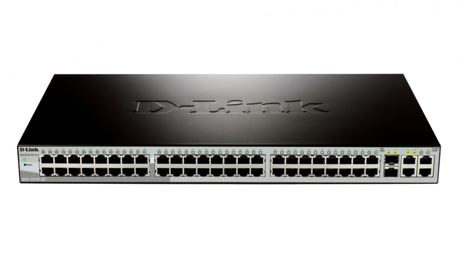 D-Link 48-port 10/100 Smart Switch + 2 Combo 1000BaseT/SFP + 2 Gigabit