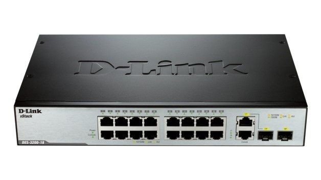 D-Link DES-3200-18 xStack 16-port 10/100 Layer 2 Managed Switch + 2-port Combo 1000BaseT/SFP