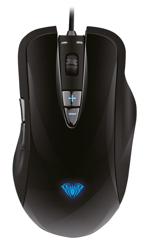 Acme Mysz przewodowa Acme Aula Ogre Soul optyczna Gaming czarno-niebieska