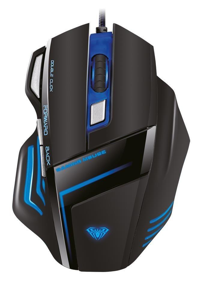 Acme Mysz przewodowa Acme Aula Ghost Shark optyczna Gaming czarno-niebieska