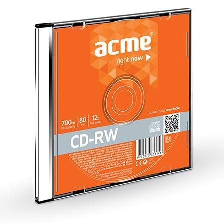 Acme CD-RW ACME 80/700MB 12X slim box