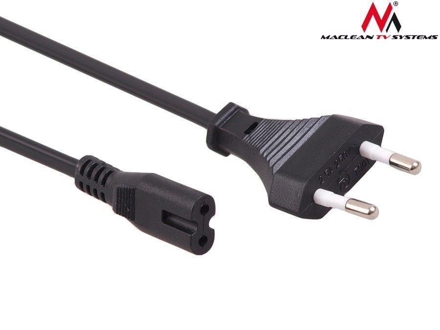Maclean Kabel zasilający ósemka 2 pin 3M wtyk EU MCTV-810