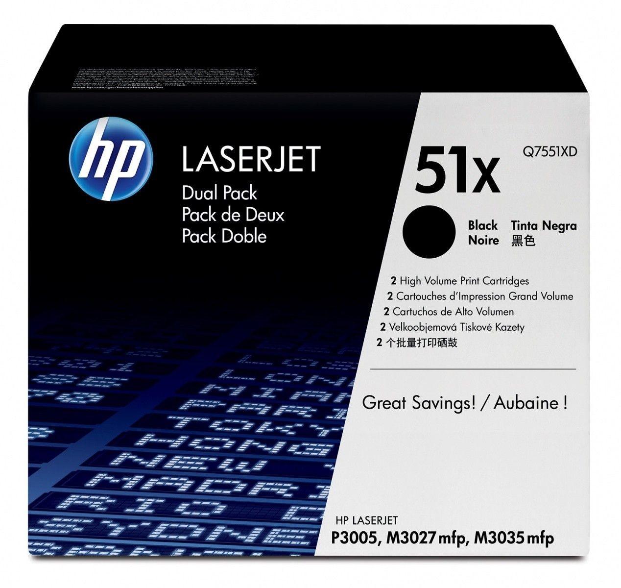 HP toner black dual pack (13000str, LJP3005/M3035MFP/M3027MFP)