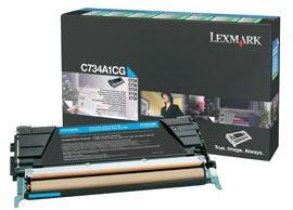 Lexmark toner cyan (return, 6000str, C734/C736/X734/X736/X738)