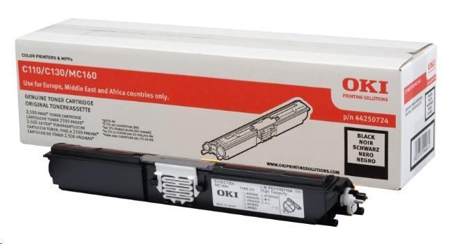 OKI toner black do C110/C130/160 (2500str)