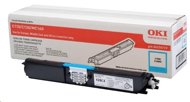 OKI toner cyan do C110/C130/160 (1500str)