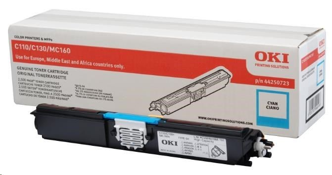 OKI toner cyan do C110/C130/160 (2500str)