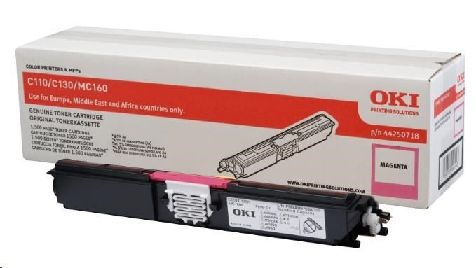 OKI Toner MAGENTA 1.5k do C110/C130/MC160 44250718