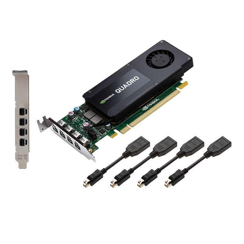 PNY Technologies NVIDIA Quadro K1200 DP, 4GB GDDR5 (128 Bit), 4xminiDP (4xminiDP to DP), LP
