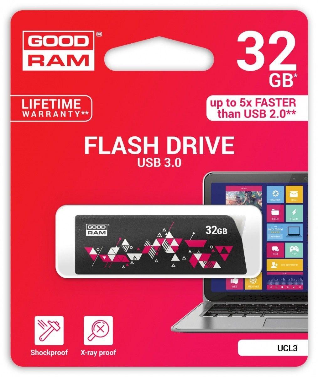 GoodRam Pamięć USB UCL3 32GB USB 3.0 Czarna
