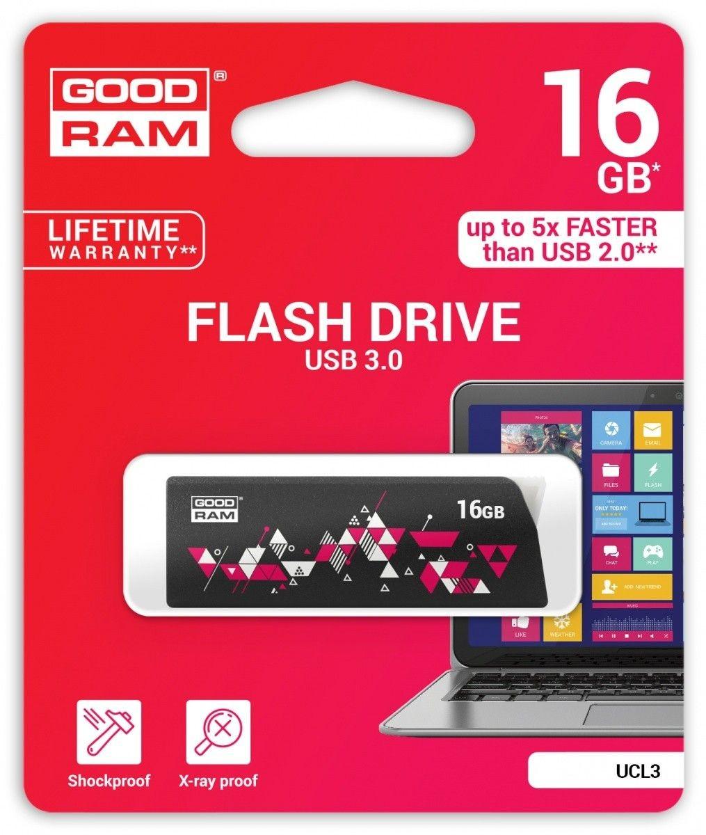 GoodRam Pamięć USB UCL3 16GB USB 3.0 Czarna