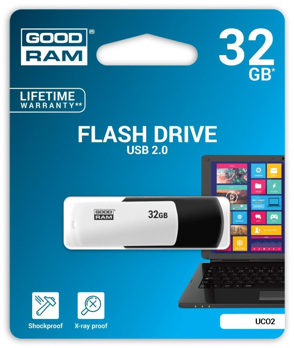 GoodRam COLOUR BLACK&WHITE 32GB USB2.0