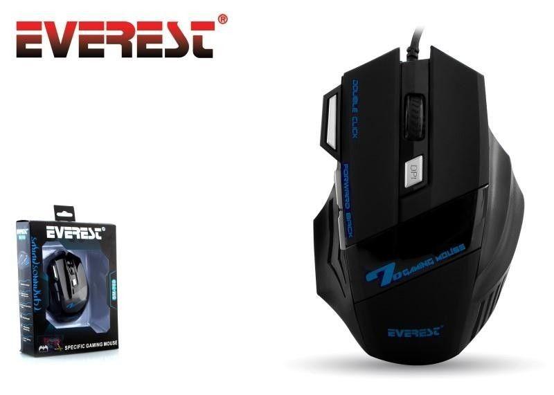 Everest Mysz przewodowa dla graczy SM-770 Mouse 800/1200/3200 DPI 3 LED