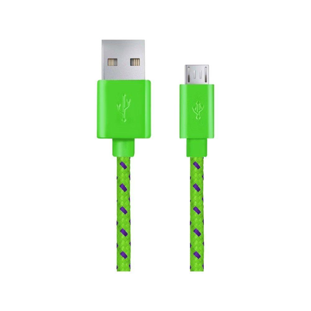 Esperanza EB181G Kabel MICRO USB 2.0 A-B M/M OPLOT 2.0 M - ZIELONY
