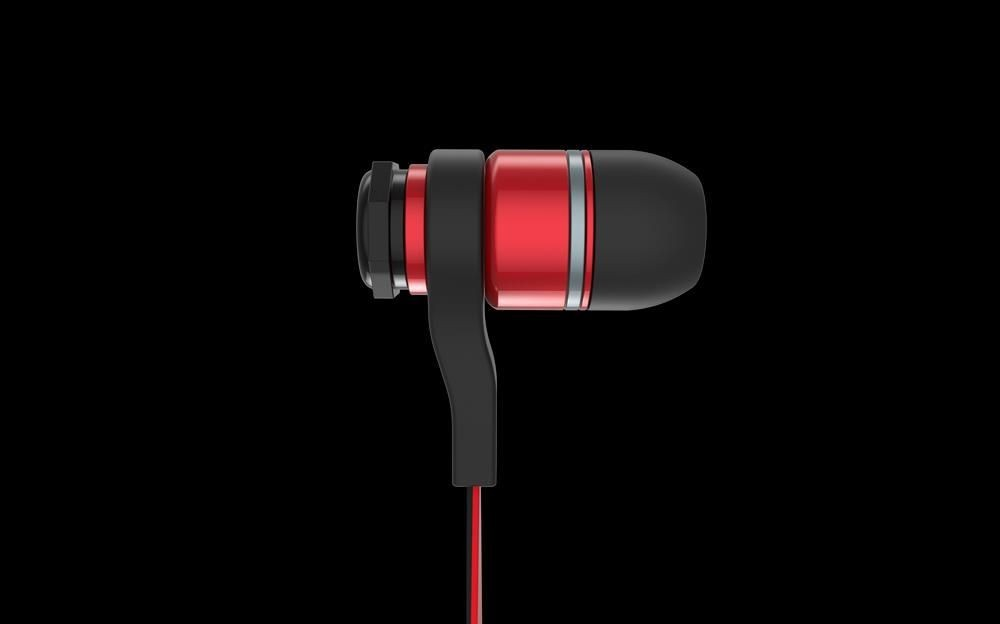 Ozone Słuchawki douszne z mikrofonem Ozone Ozone TriFX (MIK) (czarno-czerwony)