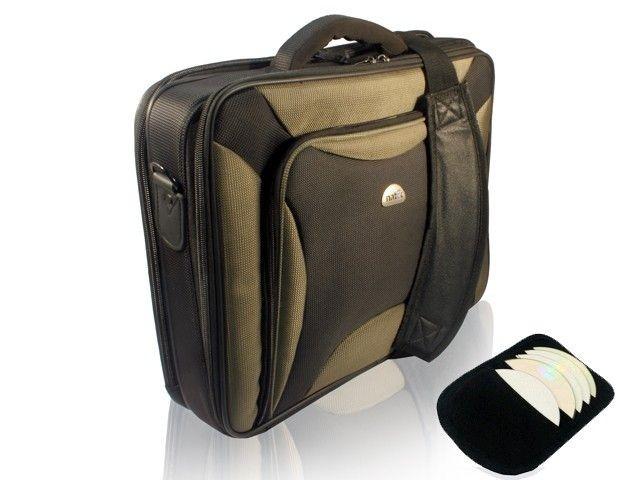 Natec torba na notebooka Pitbull Black-Olive 17,0'' + etui na CD