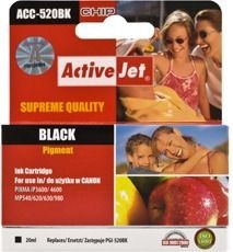 ActiveJet Tusz ActiveJet ACC-520BK | Black | 20 ml | Chip | Canon PGI-520BK