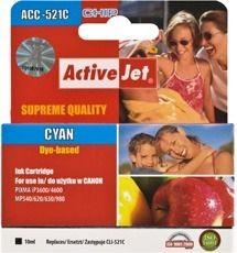 ActiveJet ACC-521C (ACC-521CN) tusz cyan do drukarki Canon (zam. CLI-521C, chip)