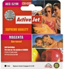ActiveJet Tusz ActiveJet ACC-521M | Magenta | 10 ml | Chip | Canon CLI-521M