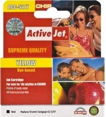 ActiveJet Tusz ActiveJet ACC-521YN | Yellow | 10 ml | Chip | Canon CLI-521Y