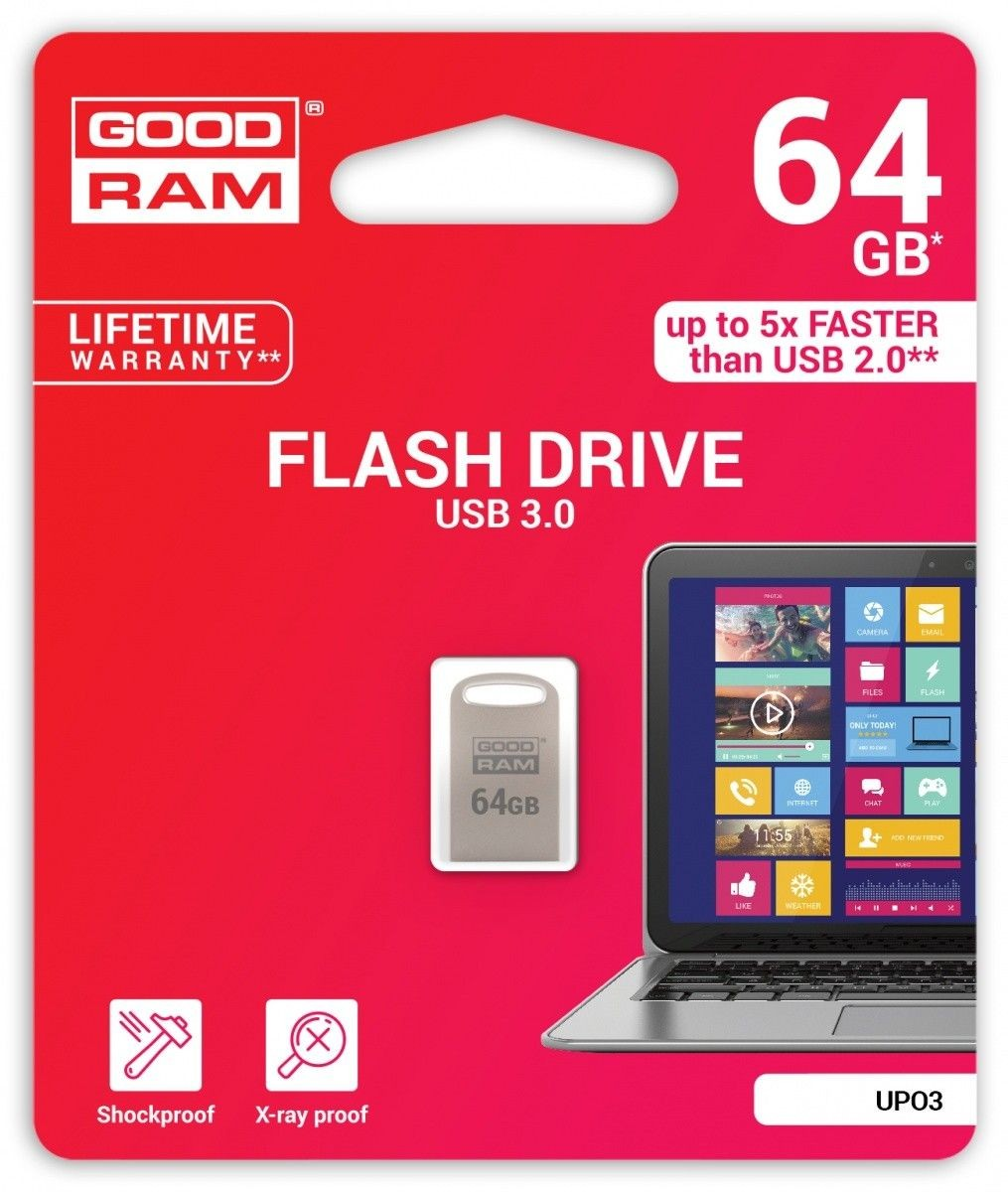 GoodRam POINT SILVER 64GB USB3.0