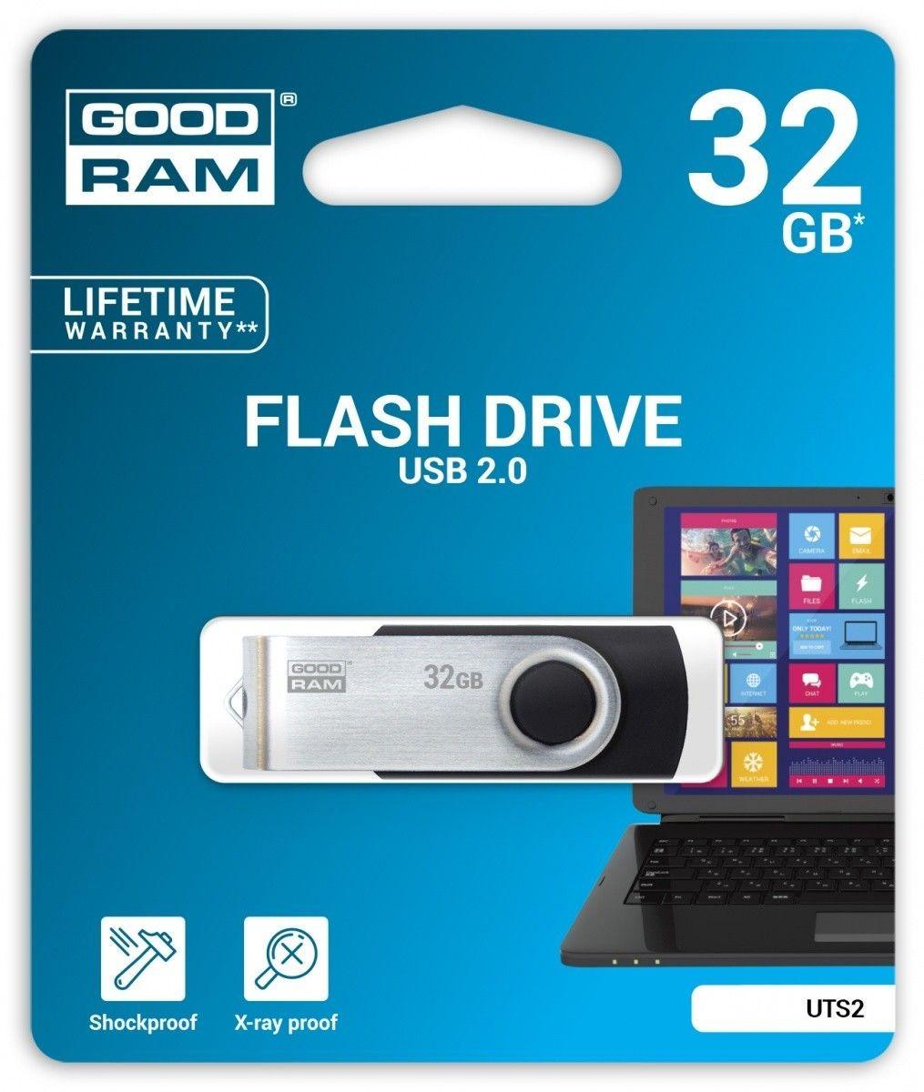 GoodRam Pamięć USB UTS2 32GB USB 2.0 Czarna