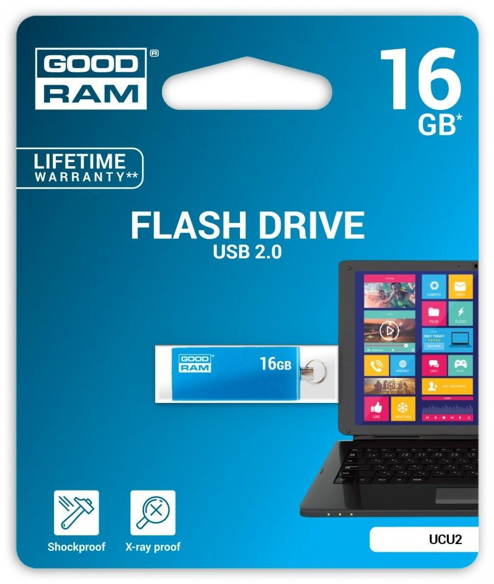 GoodRam CUBE 16GB USB2.0 BLUE