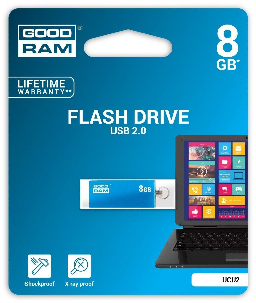 GoodRam CUBE 8GB USB2.0 BLUE