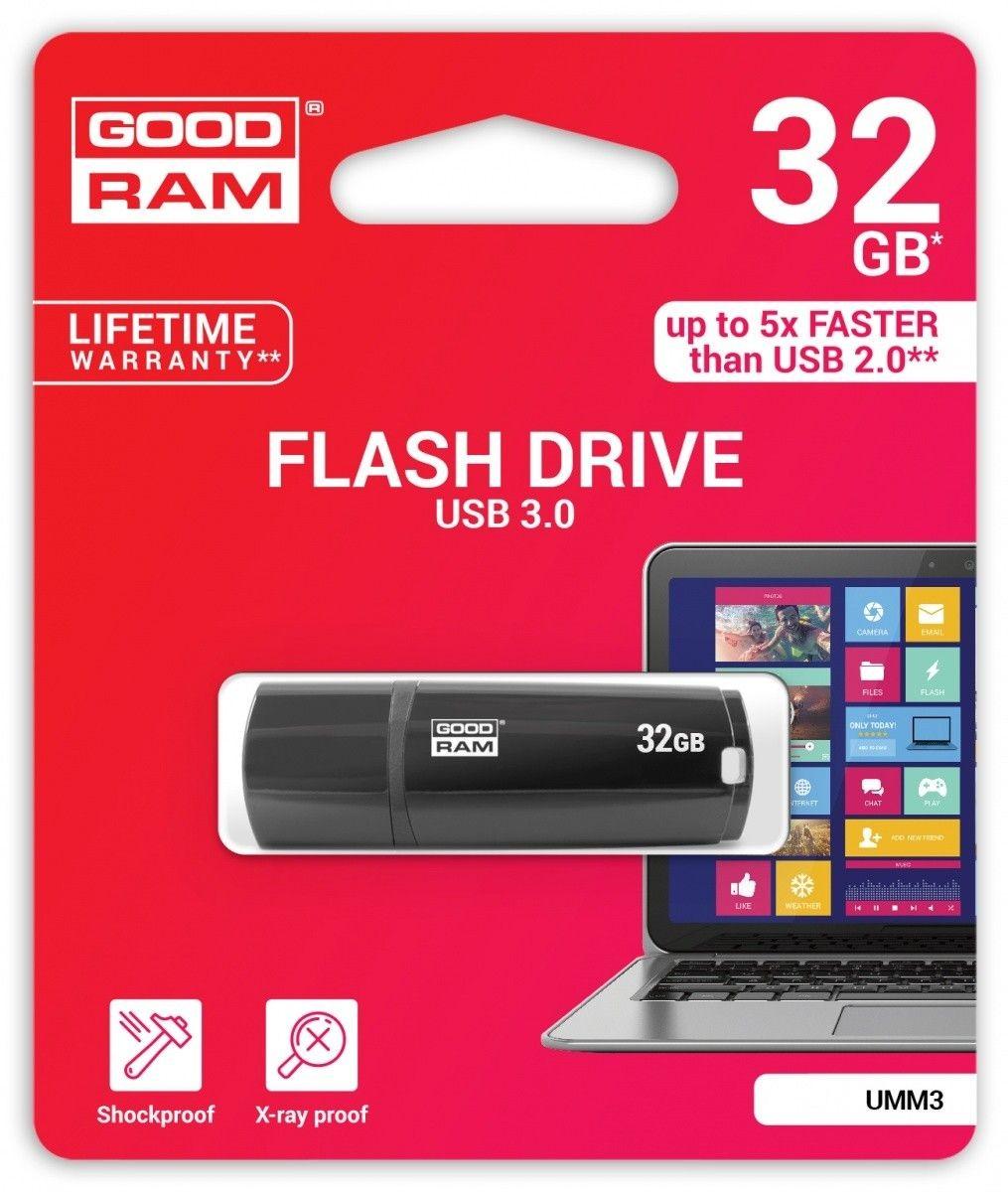 GoodRam Pamięć USB UMM3 32GB USB 3.0 Czarna
