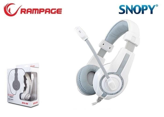 Rampage SN-R1 Gaming Headset Grey/White