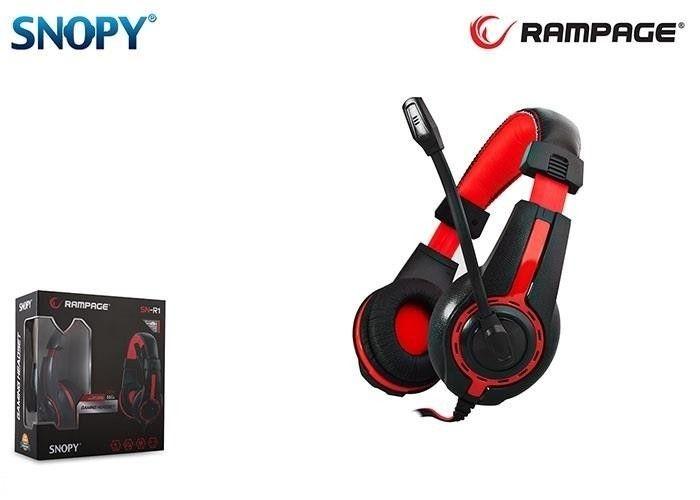 Rampage SN-R1 Gaming Headset Red/Black