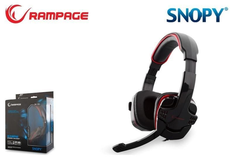 Rampage SN-R9 Gaming Headset Black/Red