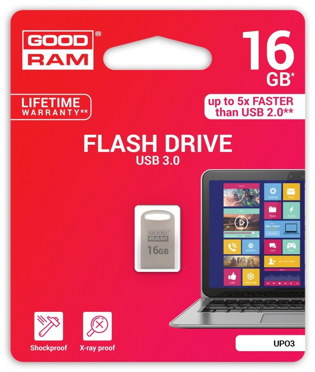GoodRam Pamięć USB UPO3 16GB USB 3.0 Srebrna