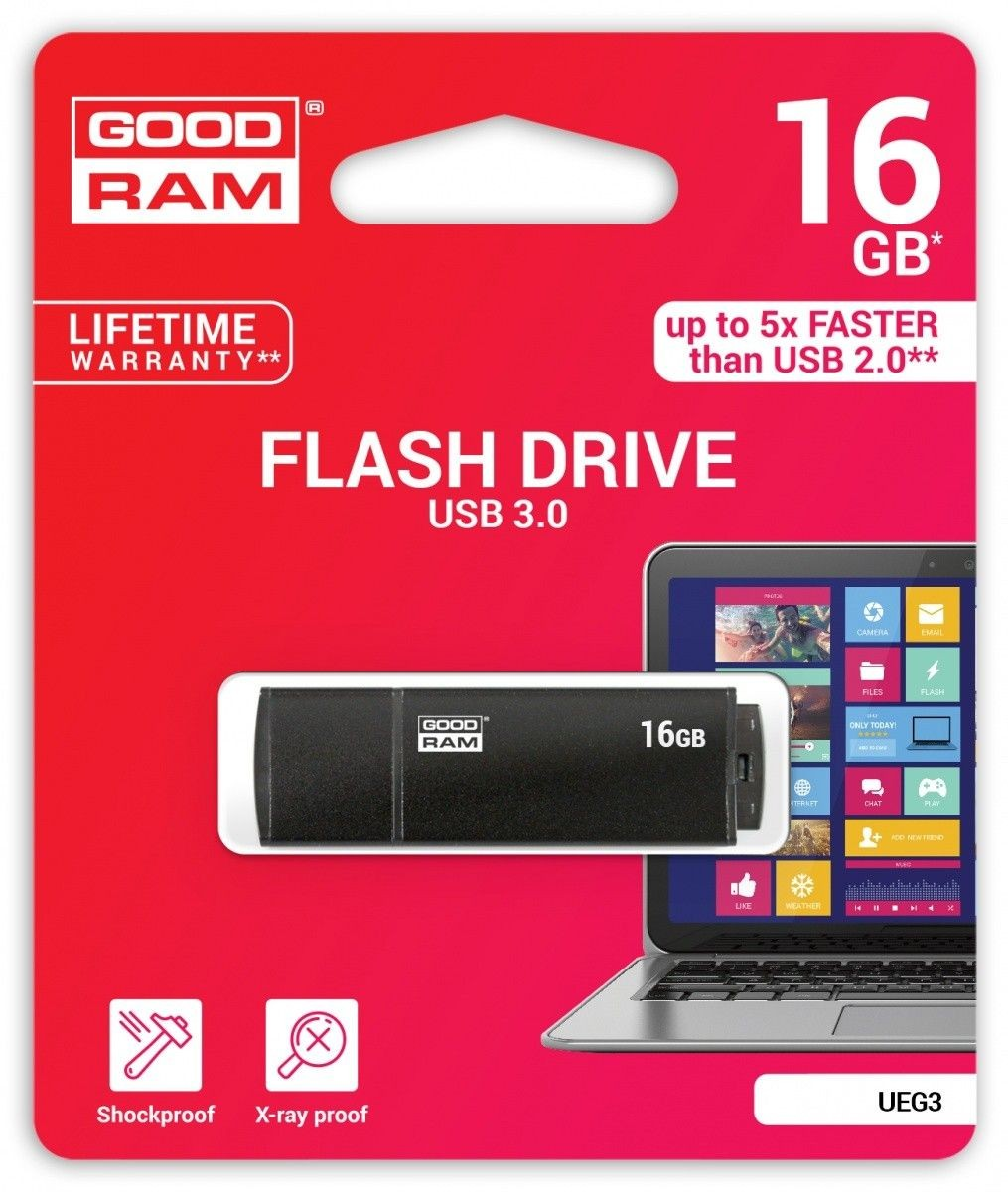 GoodRam Goodram Flashdrive Edge 16GB USB 3.0 czarny