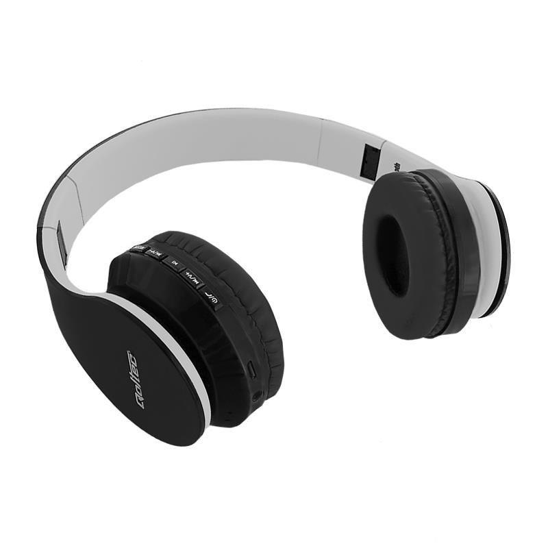 Qoltec Słuchawki bezprzewodowe BT | nauszne | + mikrofon | FM | TF | Czarne