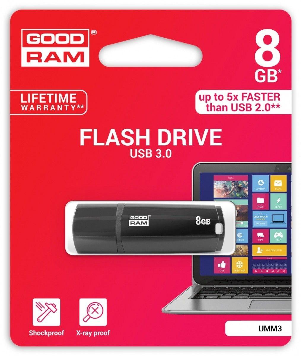 GoodRam Pamięc USB UMM3 8GB USB 3.0 Czarna