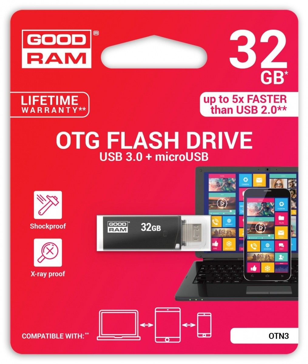 GoodRam OTN 32GB 140/25 MB/s USB3.0 Black
