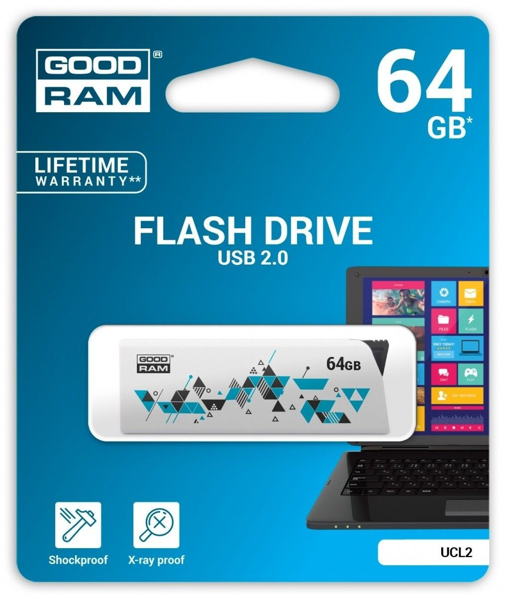 GoodRam CLICK 64GB USB2.0 WHITE